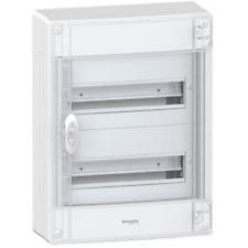 SCHNEIDER C12 SWITCHBOARD WALL IP40 WHITE DOOR FUME' 24 MODULES IP40 PRA21213