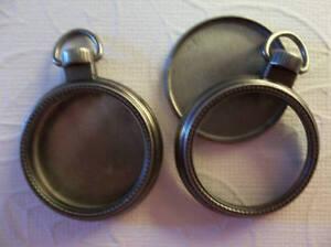 Mini 1 inch Silver Pocket Watch Case Locket - Fillable Glass Pendant - Qty 1