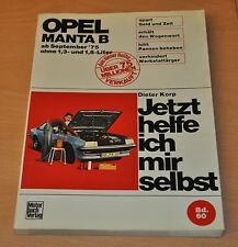 Opel Manta B 1,3 1,8 ab 1975 Motor Getriebe Handbuch Reparaturanleitung JHIMS 60