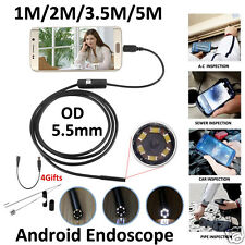 5.5mm Lens Endoscope Inspection Handheld  Waterproof Borescope Camera For Mobile