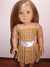 "Fits 18"" inch American Doll Clothes School Uniform Costume Dress"