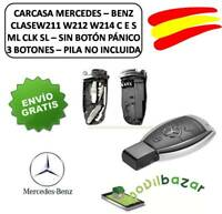LLAVE CARCASA MANDO MERCEDES BENZ 3 BOTONES W211 W212 W214 ML CLK SLK 24 HORAS
