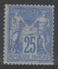 "FRANCE STAMP TIMBRE 78 "" TYPE SAGE 25c OUTREMER 1876 "" NEUF xx TB A VOIR   P606"