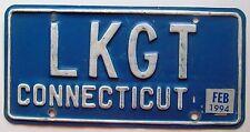 Connecticut 1994 VANITY License Plate LKGT