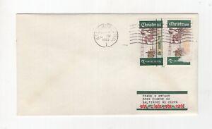 USA, 1969 Christmas, Baltimore Precancel, Cat Value $200.     (6775