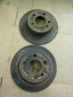 80-85 Mercedes W123 W126 Pair Of Rear Disc Brake Rotors 1264230012