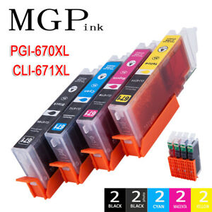 10X Non-OEM PGI 670XL CLI 671XL Ink Cartridge For Canon MG5760 5765 6860 7765