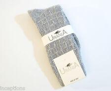 Urania Italy Ladies OVER Knee Socks Angora Blend Arrow Rib Grey NEW