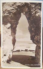 Irish RPPC Postcard NATURAL ARCH - PORTRUSH Antrim Coast Northern Ireland Photo