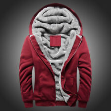 Men's Hoodie Overcoat Winter Warmth Fleece Zipper Sweater Jacket Outwear Coat CA