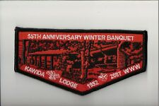 Lodge 480 Kawida ES-2007 55th Anniversary Winter Banquet OA flap