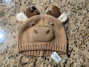 $17 NEW WITH TAGS ~ Baby Gap Reindeer Hat ~ Unisex 0-3 Months Newborn NWT Beanie