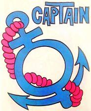 Original 1976 Captain Hot Peel Iron On Transfer Ship Sail Cruise Boat