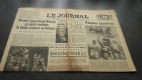 """ The Journal "" Edition Of 5 Heures Antique N°17323 Monday 25 Mars 1940 ABE"