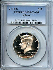 2001 S Kennedy Half  PR69 DCAM PCGS 50 Cent Silver Proof Graded Coin C3
