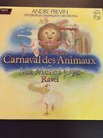 Andre Previn  Pittsburgh Sym Orch Vinyl  LP Saint Saens Carnival Des Animaux