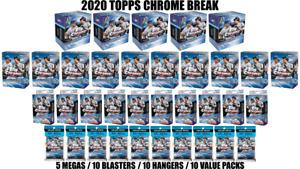 TOPPS CHROME MEGA BLASTER HANGER VALUE BREAK #81 PICK YOUR TEAM ⚾ 35 BOX BREAK ⚾