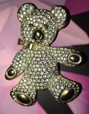 BUTLER AND WILSON LARGE VINTAGE RARE BROOCH TEDDY CRYSTAL BOOK PIECE 1970s QVC