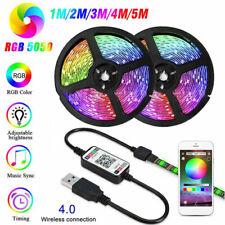 DC 5V USB TV BackLight 5050SMD Led Strip Ribbon Bluetooth APP Intelligent Remote