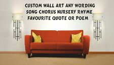 Fully Personalised and Custom Wall art Decal Sticker Home Decoration