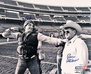 Dan Pastorini & Bum Phillips Signed Houston Oilers 16x20 Photo TRISTAR