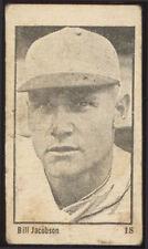 """1923 V117 MAPLE CRISPETTE BASEBALL #18 BILL """"BABY DOLL"""" JACOBSON"""