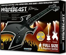 BRAND NEW PS4 PS3 PS2 *WARBEAST B.C. RICH Full Size Wireless Guitar*DONGLE*Strap