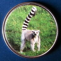 Somaliland 10 Shillings 2018 UNC Ring Tailed Lemur Monkey unusual coin