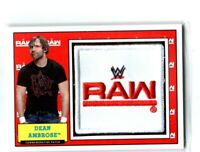WWE Dean Ambrose 2017 Topps Heritage Raw Com Patch Relic Card SN 253 of 299