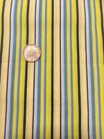 0.25m Dark Green And Cream Stripes Cotton Craft Dress Fabric Stripe