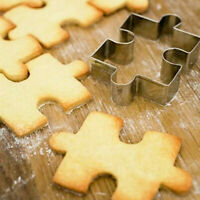 Puzzle Shape Cookie Cutter Cake Fondant Decorating Tool Stainless Steel Mold Set