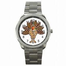 Thanksiving Turkey Holiday Accessory Stainless Steel Watch