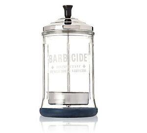 Barbicide MEDIUM Glass Jar Disinfectant for Salons Barbers Hospitals Clinics