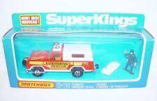 Matchbox Lesney SUPERKINGS 1:43 PLYMOUTH EMERGENCY RESCUE Model Car K-65 MIB`78!