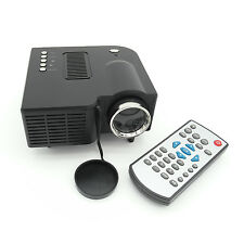 "HD 1080P Mini Portable Multimedia LED Projector 60"" For DVDs Home Cinema Theater"