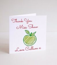Personalised Thank You Teacher, teaching assistant, LSA card