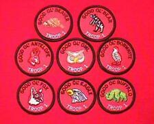 Good OL Set All 8 Round Patrol Patch Wood Badge Course Cub Boy Scout Beads BSA