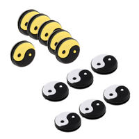 12Pcs Yin and Yang Tennis Racquet Vibration Dampener Shock Absorber Dampers