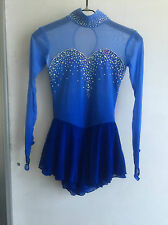blue ice skating dress girls custom figure skating dresses competition women