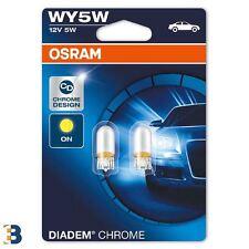 WY5W OSRAM Diadem Chrome (501a) 12V W2,1x9,5d Amber Indicator Bulbs 2827DC-02B