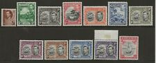 GRENADA  SG 152/163f  1938/50  GVI SET OF 12   VERY FINE LIGHTLY MOUNTED MINT