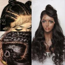 100% Peruan Echthaar Perücke Gewellt Lace Front Wig Spitze Perücken Mit Babyhaar