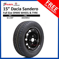 "DACIA Sandero 2013-2018 FULL SIZE STEEL SPARE WHEEL 15""  AND TYRE 185/65R15"