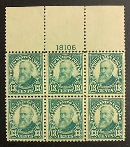 UNITED STATES #622 plate block MNH. VF centering. $325.00 CV.