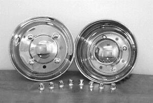 "Hino FH FD Wheel Simulator 19.5"" 6 Lug Hubcap liner stainless steel bolt on"