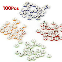 100X Zwischenring Metallperlen Perlen spacer 4 Fa Perle GY