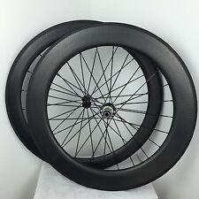 Front 50 rear 80mm carbon road clincher dimple road bike wheels 700C R23 hub