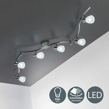 Deckenleuchte Glas Wohnzimmer Deckenlampe Strahler schwenkbar E14 6-flammig LED
