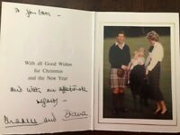 "CHARLES and DIANA  ""Young Royal Family"" Signed 1985 Christmas Card"