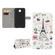 Phone Case Bookstyle Flip Cover Protective Motif Wallet Art. Leather Sony Xperia E3 Eiffel Tower Paris